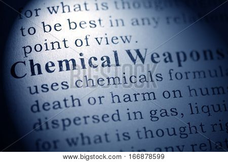 Fake Dictionary Dictionary definition of Chemical Weapons.