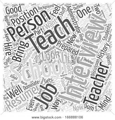 I Want to Teach in Your School Word Cloud Concept