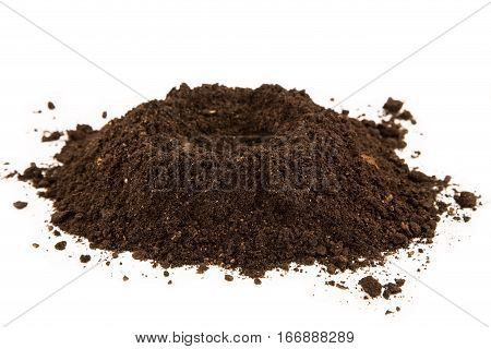Soil heap isolated on a white background