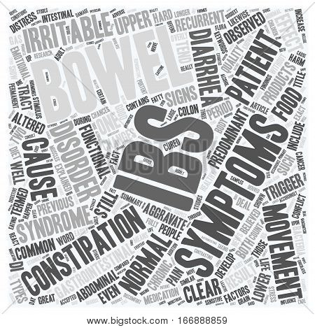 IBS Syndrome Explained text background wordcloud concept