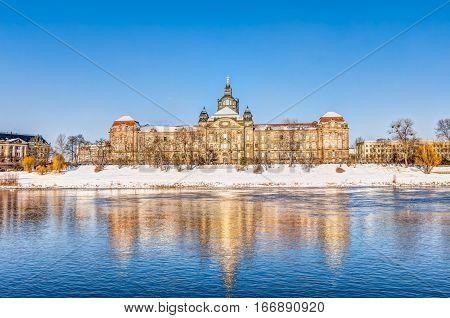 Saxon State Chancellery In Dresden In Winter