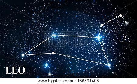 Symbol Leo Zodiac Sign. Vector Illustration EPS10
