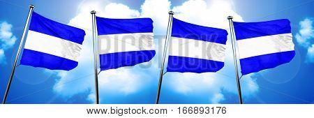 Juliet maritime signal flag, 3D rendering