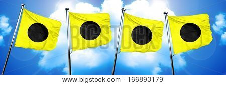 India maritime signal flag, 3D rendering