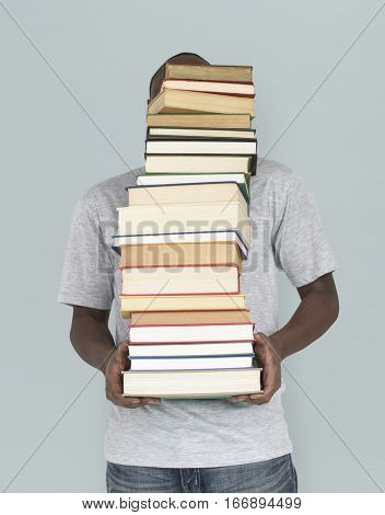 African Man Carrying Textbook School Education
