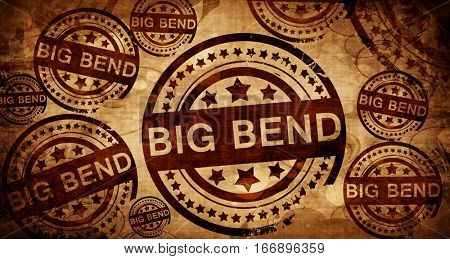 Big bend, vintage stamp on paper background