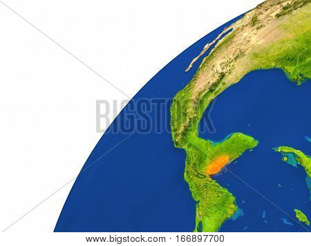 Country Of Belize Satellite View