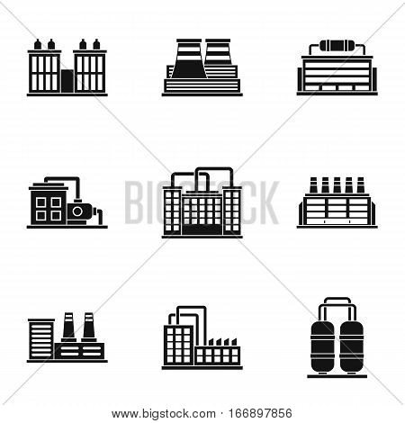 Production icons set. Simple illustration of 9 production vector icons for web
