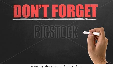 Dont Forget in a blackboard