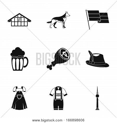 Republic of Germany icons set. Simple illustration of 9 republic of Germany vector icons for web