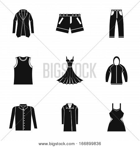 Underwear icons set. Simple illustration of 9 underwear vector icons for web