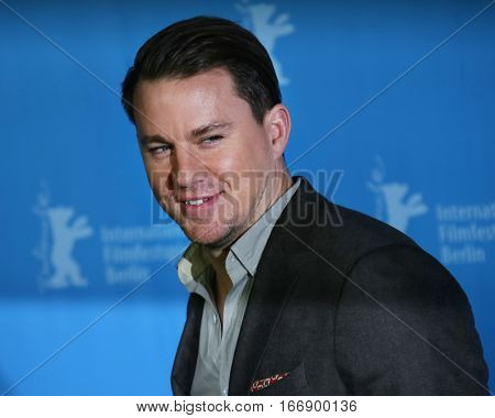 Berlin, Germany - February 11, 2016: Actor Channing Tatum attends the 'Hail, Caesar!' photo call during the 66th Berlinale International Film Festival Berlin