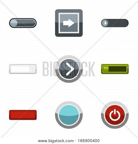 Choice button icons set. Flat illustration of 9 choice button vector icons for web
