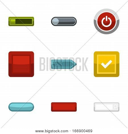 Click and selection icons set. Flat illustration of 9 click and selection vector icons for web