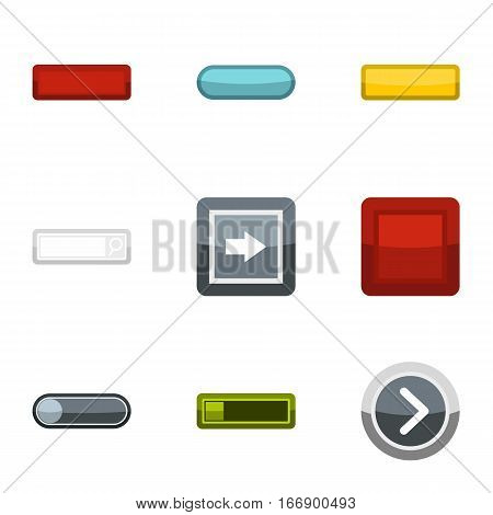 On off buttons icons set. Flat illustration of 9 on off buttons vector icons for web