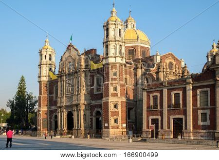 The old Basilica of Our Lady of Guadalupe in Mexico City, the most visited catholic shrine in the world