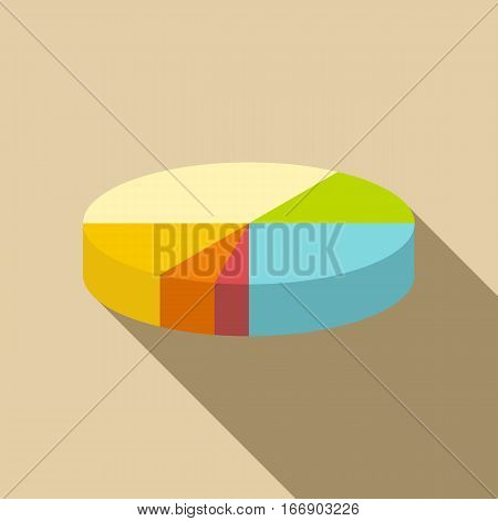 Diagram pie chart icon. Flat illustration of diagram pie chart vector icon for web design