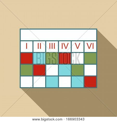 Business calendar infographic icon. Flat illustration of business calendar infographic vector icon for web design