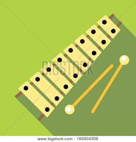 Xylophone icon. Flat illustration of xylophone vector icon for web design