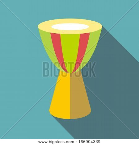 Ethnic drum icon. Flat illustration of ethnic drum vector icon for web design