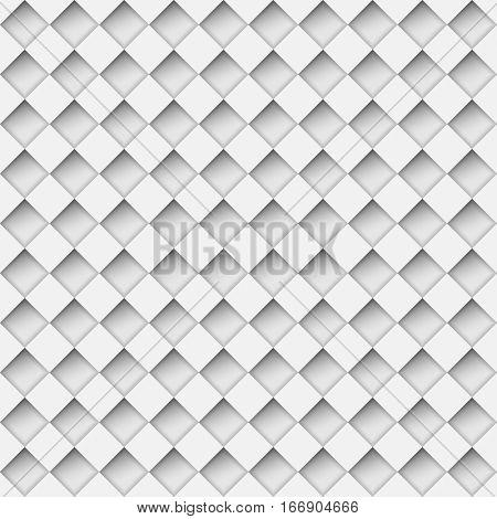Seamless white notched diamond shapes pattern.  Raster copy.
