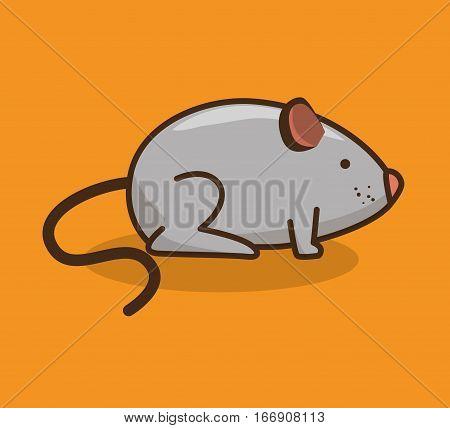 mouse pet shop icon vector illustration design
