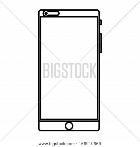 Simple thin line cellular phone icon vector