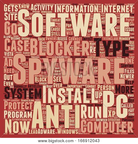 Importance Of PC Anti Spyware And Spyware Blockers text background wordcloud concept