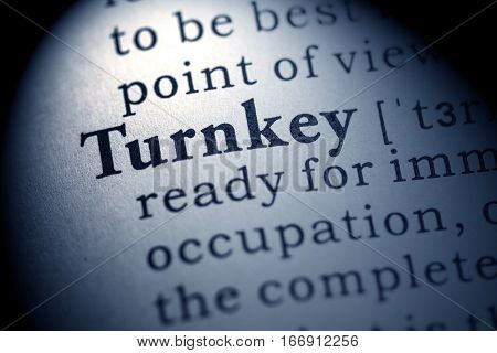 Fake Dictionary Dictionary definition of the word turnkey.