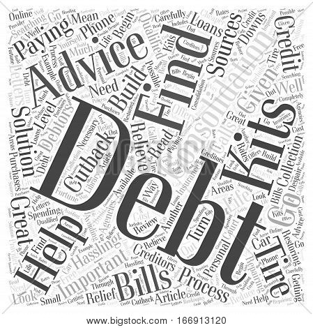 Important Advice on Debt Consolidation Word Cloud Concept