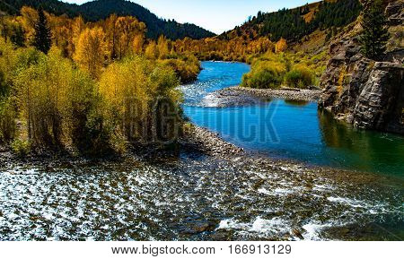 Gros Ventre River in Autumn Jackson Hole, WY
