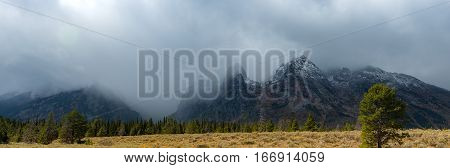 Landscape of Grand Teton National Park in the autumn Landscape Photography