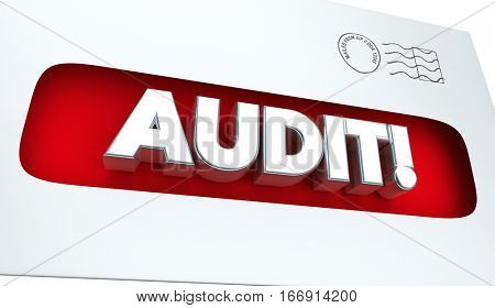 Audit Tax Review Notice Envelope 3d Illustration