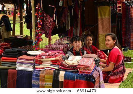 BANGKOK THAILAND - January 252017 : Thailand Tourism Festival 2017 DETAIL;Date 25 - 29 Jan 2017 Venue: Lumpini Park Bangkok. Activities: Five regional tourism villages that display the way of life of the Thai people in each region and to publicize and com