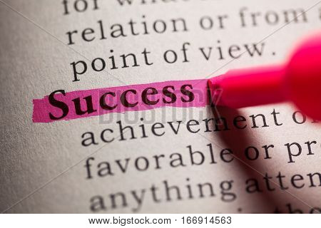 Fake Dictionary definition of the word Success.