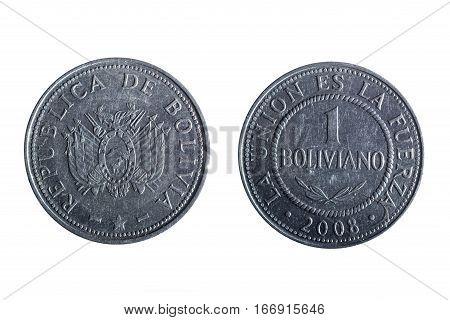 Bolivian Peso Coin