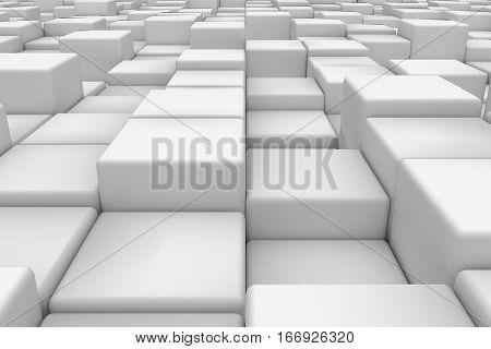 Diagonal Surface Made Of Cubes