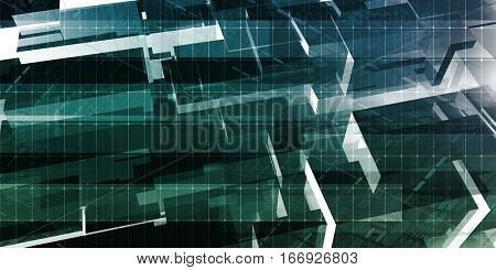 Science Analytics and Medical Concept for Grid Data 3D Illustration Render