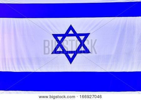 Israel Flag back israeli emblem travel sign history