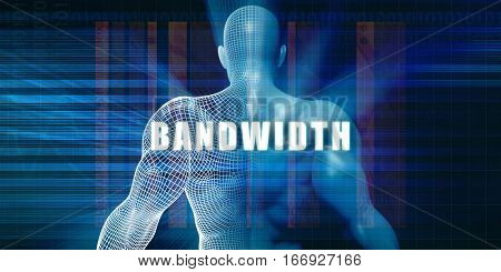 Bandwidth as a Futuristic Concept Abstract Background 3D Illustration Render