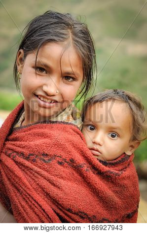 Siblings In Nepal