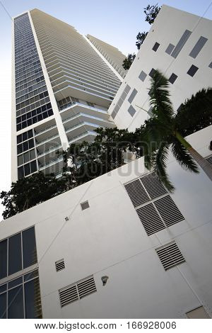Stock photo of highrise architecture shot from a ground angle view