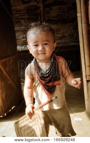 Child In Damak In Nepal