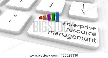 Enterprise Resource Management or ERM as Concept 3D Rendering