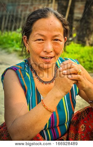 Woman At Nepali Camp In Nepal