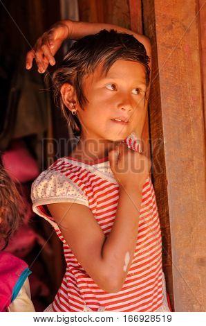 Girl In Beni In Nepal
