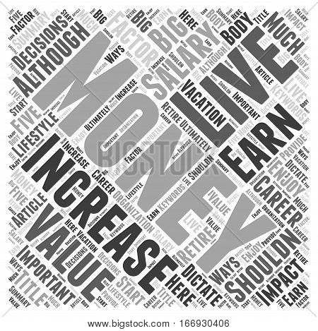Increase Your Value Increase Your Salary Word Cloud Concept