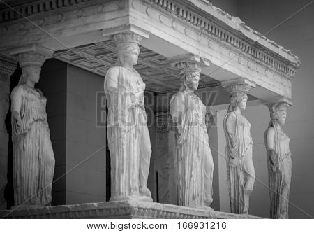 The Caryatids from the south porch of the Erechtheion