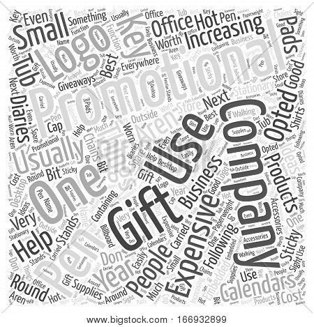 Increasing Business with the Help of Promotional Gifts Word Cloud Concept