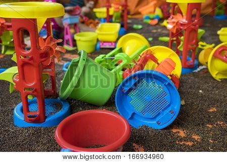 Kid Colourful Toys With Man Made